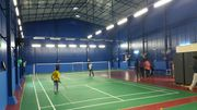 Shuttle court construction service in chennai | Shuttle court roofing
