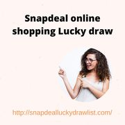 Snapdeal online shopping Lucky draw
